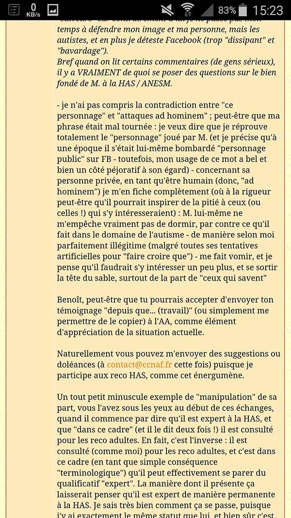 Menaces de poursuites association Asperansa